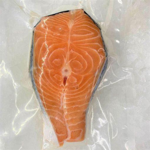 Air Flown Norway Fresh Salmon Steak Cut Cutlet With Skin Bone In 250g Pack