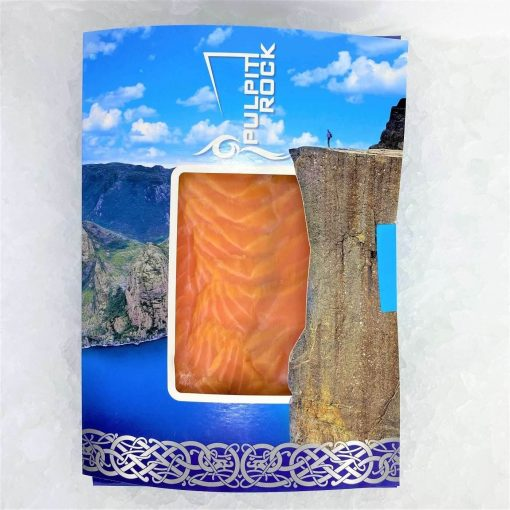 Air Flown Norway Fresh Smoked Salmon Pulpit Rock Pre Sliced 200g Fullpack