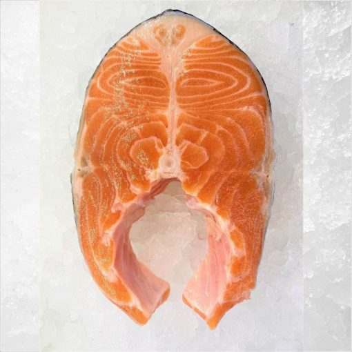 Air Flown Norway Fresh Trout Steak Cut Cutlet With Skin And Bone In 250g Meat