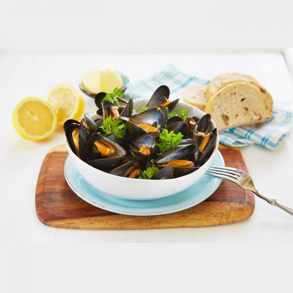 Frozen Chili Blue Mussels Half Shelled 1kg Cover