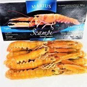 Frozen Denmark Langoustine Scampi Norway Lobster Whole Medium 1kg Pack Inside