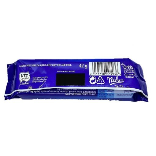Scandinavian Goodies Milk Airated Chocolate Stratos Bar 42g Back