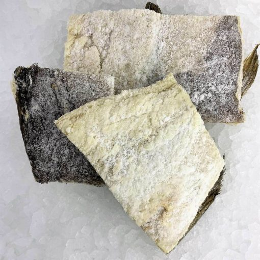Smoked&marinated Dry Salted Cod In Pieces Skinon Bonein 1kg Unpack