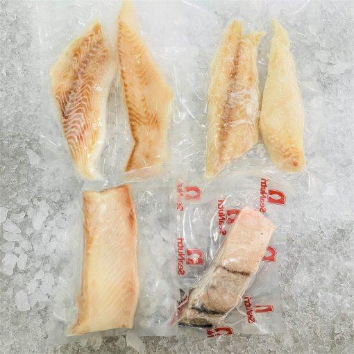 Frozen Fillet Portioned Burranmundi Haddock Gindara Halibut Bundle Sep Packed