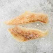 Frozen Norway Greenland Halibut Fillet Portioned Skin Off Boneless 2x150g Pack Meat