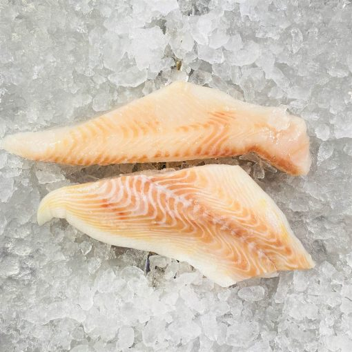 Frozen Norway Greenland Halibut Fillet Portioned Skin Off Boneless 2x150g Unpack Meat