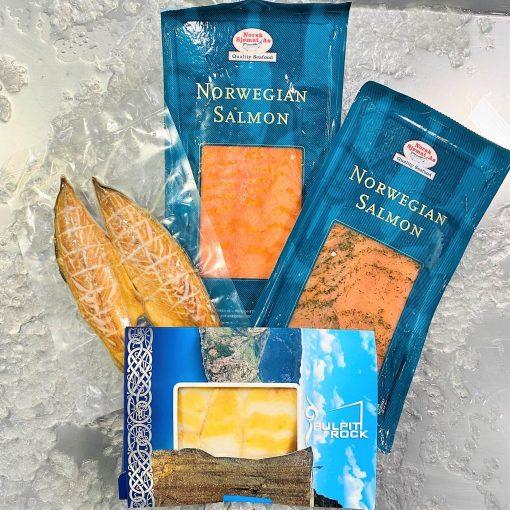 Frozen Smoked Salmon Mackerel Halibut Smoked Bundle Sep