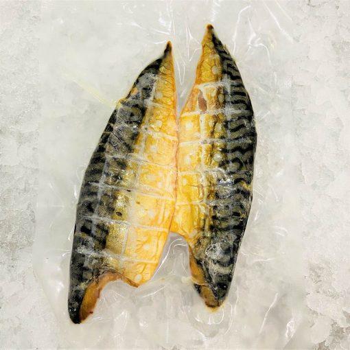 Smoked Mackerel Whole Fillet Skin On Plain 200g Pack Skin