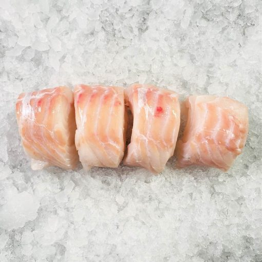 Air Flown Scotland Fresh Atlantic Cod Fillet Portioned Boneless Skin Less 200g X 4 Unpack Skin