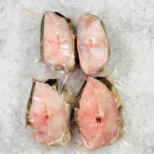 Air Flown Scotland Fresh Atlantic Cod Steak Cut 300g X 4 Pack
