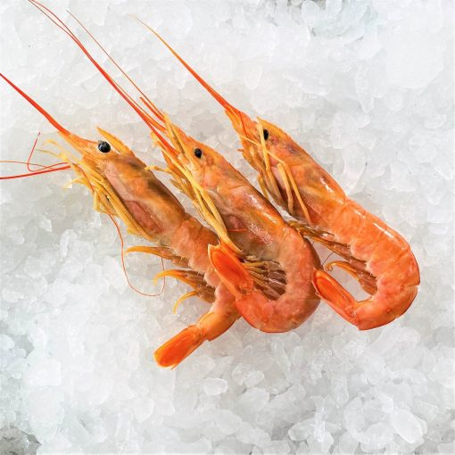 Frozen Argentina Red Shrimps Whole Head On Raw Large 2kg Unpack 3pc