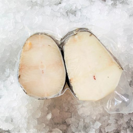 Frozen Chilean Sea Bass Steak Cut Cutlet Skin On Bone In 250g X2 Pack