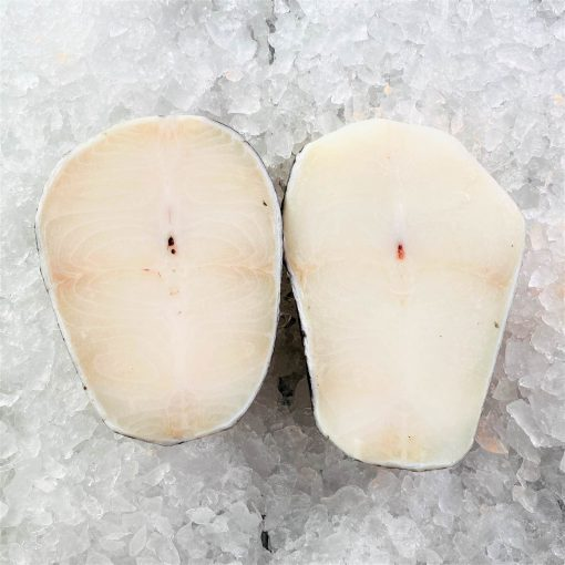 Frozen Chilean Sea Bass Steak Cut Cutlet Skin On Bone In 250g X2 Unpack