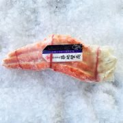 Frozen Chili Red King Crab Cooked Single Leg 2 Pieces 300g Pack Side