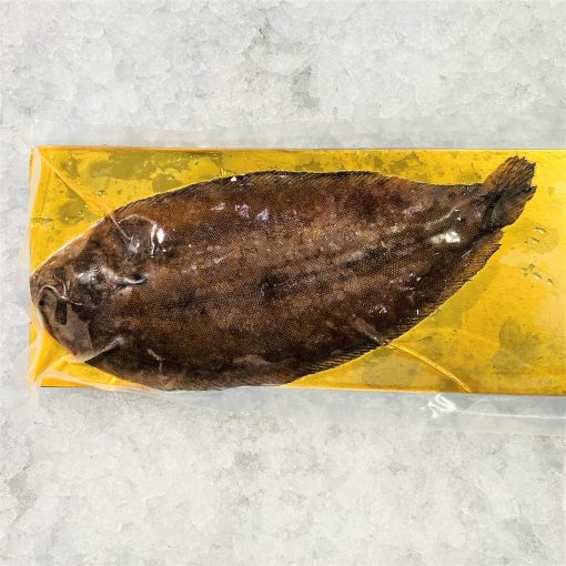 Frozen Denmark Dover Sole Whole Fish Gutted 350g Pack Skin