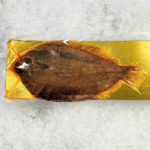 Frozen New Zealand Lemon Sole Whole Fish Gutted 400g Pack Skin