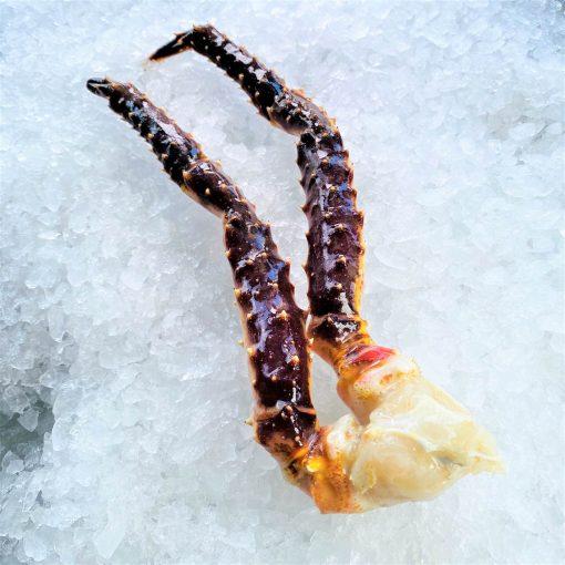 Frozen Norway Alaskan Red King Crab Raw Single Leg 300g Unpack Side