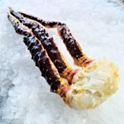 Frozen Norway Alaskan Red King Crab Raw Single Leg 600g Unpack Side