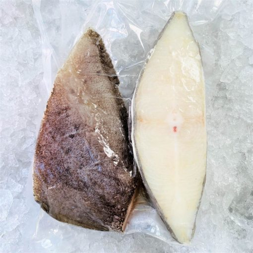 Frozen Norway Greenland Halibut Cutlet Skin On Bone In 500g Pack