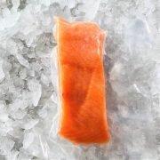 Frozen Norway Salmon Fillet Portioned Boneless Skin On 200g Pack Meat