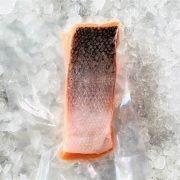 Frozen Norway Salmon Fillet Portioned Boneless Skin On 200g Pack Skin
