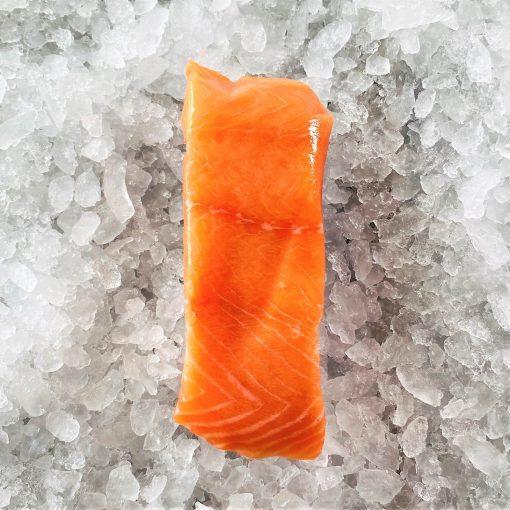 Frozen Norway Salmon Fillet Portioned Boneless Skin On 200g Unack Meat