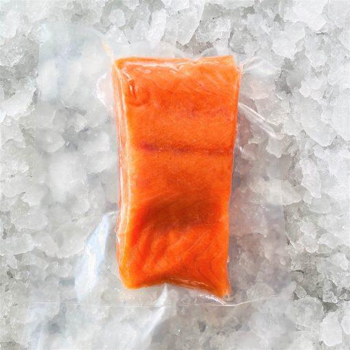 Frozen Norway Salmon Trout Fillet Portioned Boneless Skin On 200g Pack Meat
