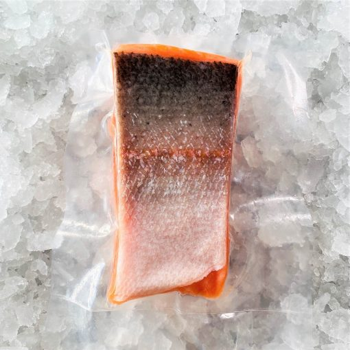 Frozen Norway Salmon Trout Fillet Portioned Boneless Skin On 200g Pack Skin