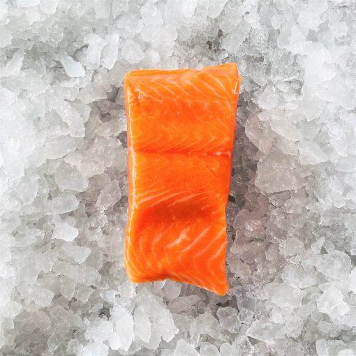 Frozen Norway Salmon Trout Fillet Portioned Boneless Skin On 200g Unpack Meat