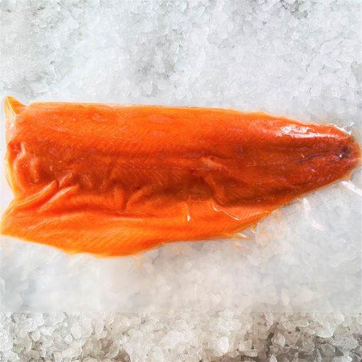 Frozen Norway Salmon Trout Fillet Whole Boneless Skin On 1.4kg Pack Meat