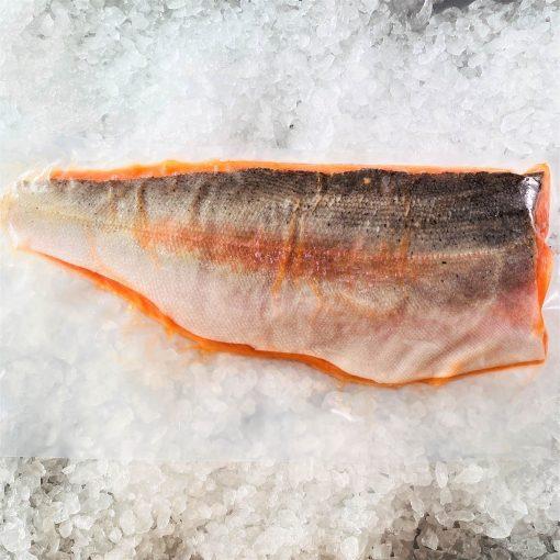 Frozen Norway Salmon Trout Fillet Whole Boneless Skin On 1.4kg Pack Skin