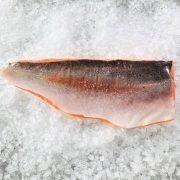 Frozen Norway Salmon Trout Fillet Whole Boneless Skin On 1.4kg Unpack Skin