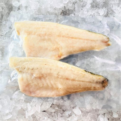 Frozen Sea Bass Mediterranean Fillet Portioned Skin On Boneless 160g X2 Pack Meat Side