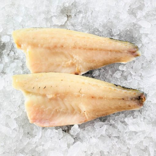 Frozen Sea Bass Mediterranean Fillet Portioned Skin On Boneless 160g X2 Unpack Meat Side