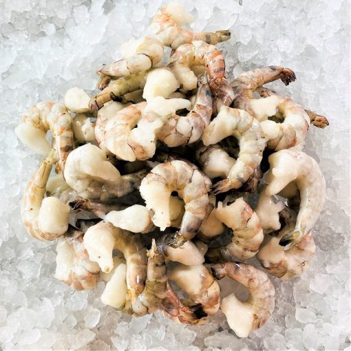 Frozen Vietnam Black Tiger Shrimps Raw Tail Off 31 40pcs 1kg Unack Top