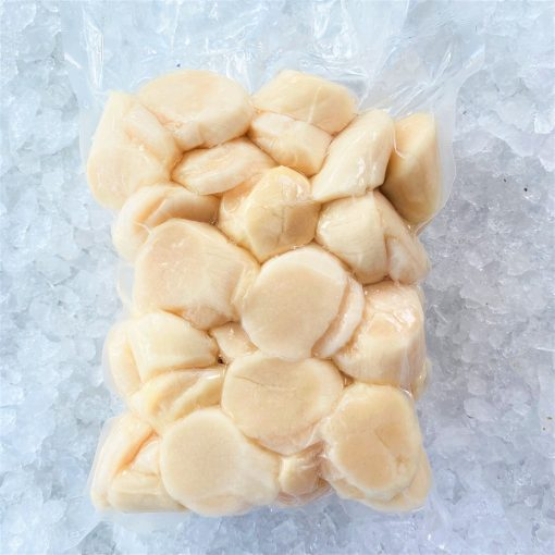 Frozen Japan Scallop Meat Medium Sashimi Grade 1kg Packed
