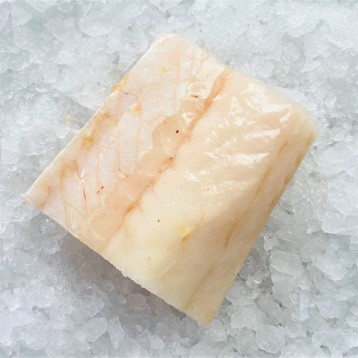 Frozen New Zealand Ling Whole Fillet Portioned Skin Off Boneless 200g Unpack Diagonally Skin
