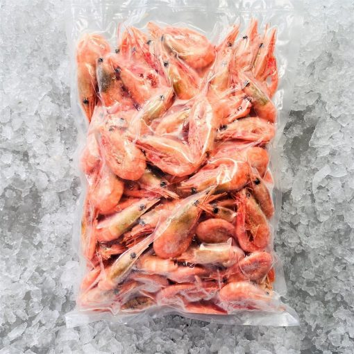 Frozen Norway Cold Water Shrimps Cooked Head And Shell On 1kg Packed