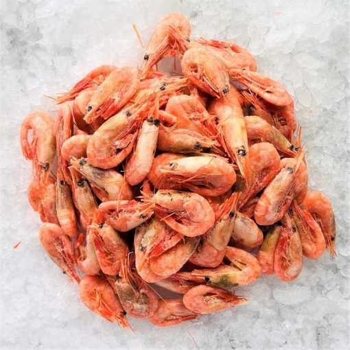Frozen Norway Cold Water Shrimps Cooked Head And Shell On 1kg Unpacked Frozen