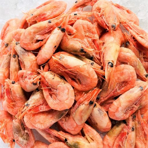 Frozen Norway Cold Water Shrimps Cooked Head And Shell On 1kg Unpacked Frozen Zoom
