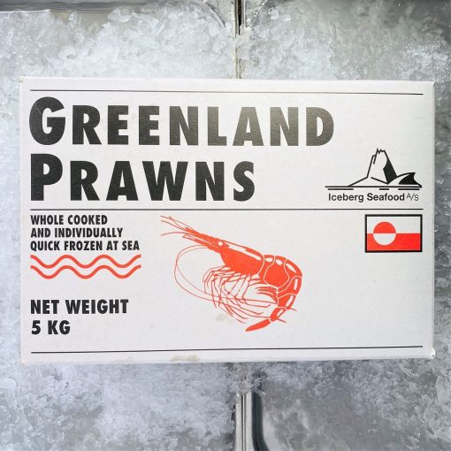 Frozen Norway Cold Water Shrimps Cooked Head And Shell On 5kg Packed Box