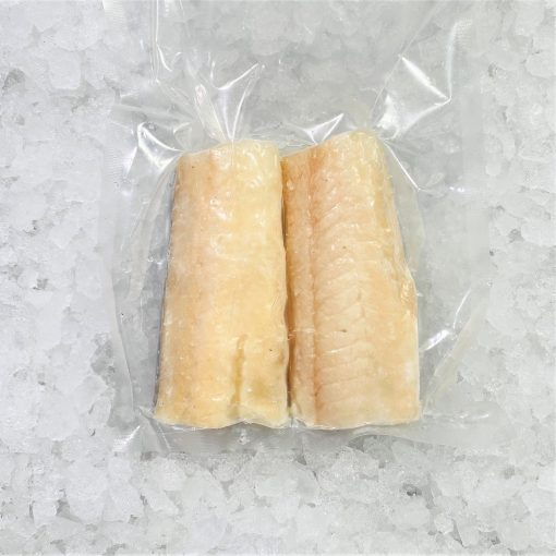 Frozen Norway Haddock Loin Boneless Skin On 300g 150g X2 Pack Meat