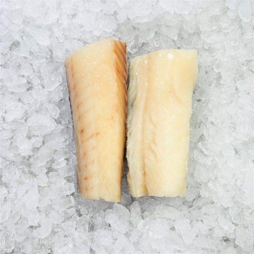 Frozen Norway Haddock Loin Boneless Skin On 300g 150g X2 Unpack Meat