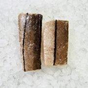 Frozen Norway Haddock Loin Boneless Skin On 300g 150g X2 Unpack Skin