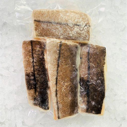 Frozen Norway Haddock Loin Boneless Skin On 600g 150g X4 Pack Skin
