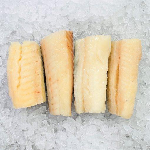 Frozen Norway Haddock Loin Boneless Skin On 600g 150g X4 Unpack Top Meat