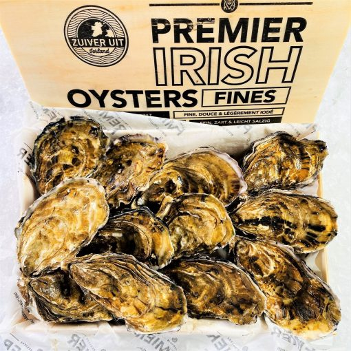 Air Flown Netherland Fresh Irish Oyster Whole Shell On 100 120g Inside Cover
