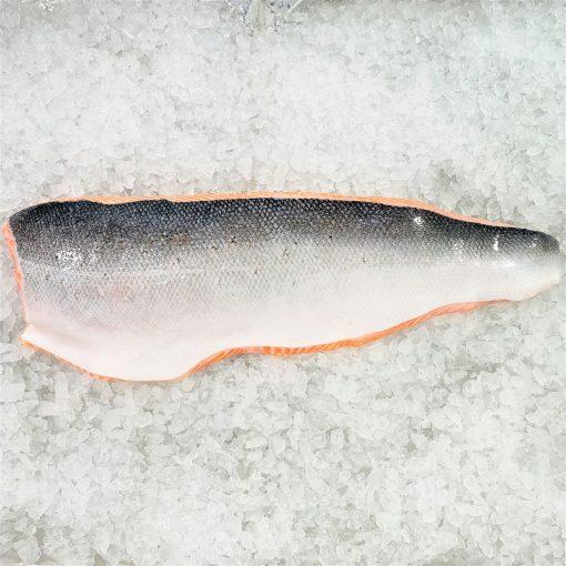 Air Flown Norway Fresh Salmon Fillet Whole Boneless Skin On 1.4kg Skin Unpack