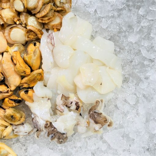 Frozen Malaysia Seafood Mix 500g Defrost Squid Babyoctopus