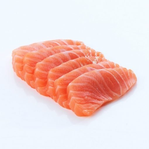 Air Flown Fresh Norway Salmon Sashimi Cut 250g Nobackground